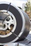 Rolls холоднопрокатной гальванизированной стали с покрытием полимера Стоковые Фотографии RF