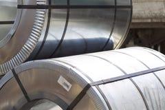 Rolls холоднопрокатной гальванизированной стали с покрытием полимера Стоковое фото RF
