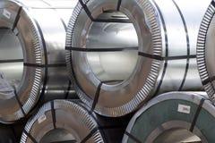 Rolls холоднопрокатной гальванизированной стали с покрытием полимера Стоковое Фото