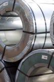 Rolls холоднопрокатной гальванизированной стали с покрытием полимера Стоковые Изображения