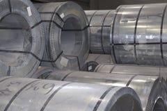 Rolls холоднопрокатной гальванизированной стали с покрытием полимера Стоковое Изображение RF