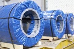 Rolls холоднопрокатной гальванизированной стали с покрытием полимера Стоковая Фотография RF