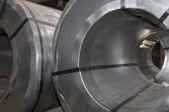 Rolls холоднопрокатной гальванизированной стали с покрытием полимера Стоковое Изображение