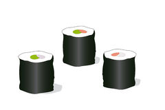 Rolls. The abstract sushi rolls background stock illustration