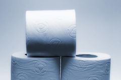 Rolls #2. Rolls of soft toilet paper stock image