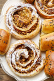 Rolls with apple and cinnamon Royalty Free Stock Images