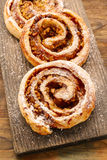 Rolls with apple and cinnamon Stock Images