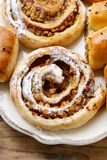Rolls with apple and cinnamon Royalty Free Stock Photo