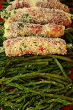Rolls with asparagus Royalty Free Stock Image