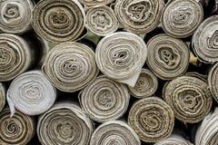 Rolls av textilmaterial Arkivbilder