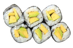 Rolls with avocado Stock Images