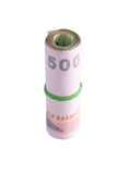 Rolls of banknote of Thai Stock Image