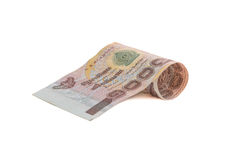 Rolls of banknote of Thai currency Stock Photo