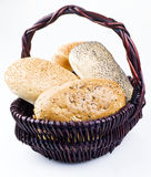 Rolls in basket Stock Images