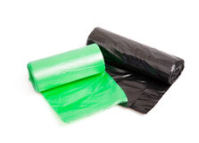 Rolls of bin bags Royalty Free Stock Image