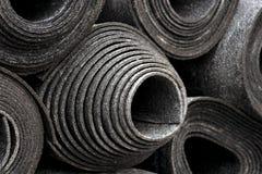 Rolls of black foam Stock Photo