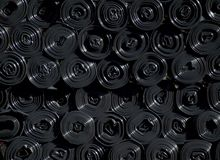 Rolls of black plastic sacks Royalty Free Stock Photography