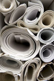 Rolls of Blueprints. Rolled up paper blueprints stacked together Royalty Free Stock Photography