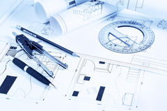 Rolls blueprints Royalty Free Stock Images