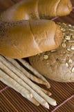 Rolls and bread sticks Stock Image