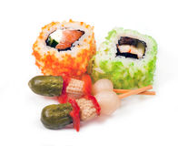 Rolls California and other snack Stock Photography