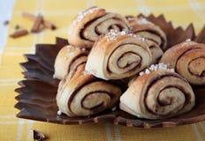 Rolls with cardamom, cinnamon and sugar Stock Photo