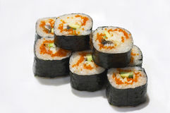 Rolls with caviar Stock Image