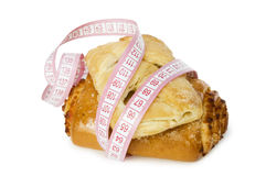Rolls and centimetre. Stock Image
