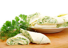 Rolls with cheese and herbs Stock Images