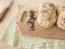 Rolls with chia seeds Royalty Free Stock Photo