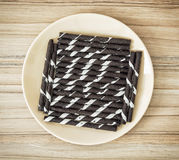 Rolls with chocolate and vanilla flavour Stock Image