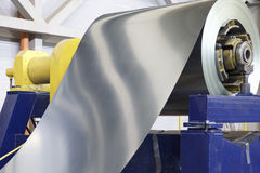 Rolls of cold-rolled galvanized steel with polymer coating. In stock Royalty Free Stock Images
