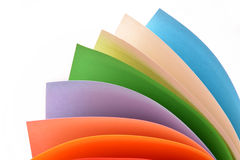 Rolls of color paper Stock Image
