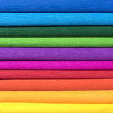Rolls of colored corrugated paper closeup on background Stock Photography