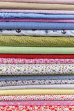 Rolls of colored fabrics Royalty Free Stock Images