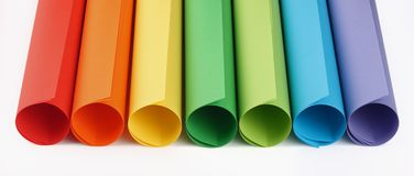 Сolored paper rolls royalty free stock image