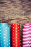 Rolls of colored wrapping paper Royalty Free Stock Images