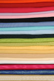 Rolls of colorful fabric Stock Photo