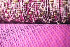 Rolls of colorful fabric as a vibrant background Royalty Free Stock Photo