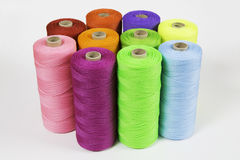 Rolls of colorful polyester rope Royalty Free Stock Image