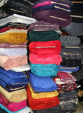 Rolls of colorful textiles Stock Photography