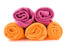 Rolls of colorful towels Royalty Free Stock Image
