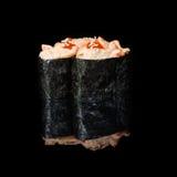 Rolls com partes de camarão e de sause cremoso Foto de Stock Royalty Free