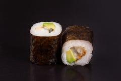 Rolls con l'avocado Immagine Stock