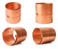 Rolls of copper sheet Stock Images