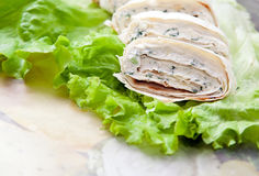 Rolls with cottage cheese royalty free stock images