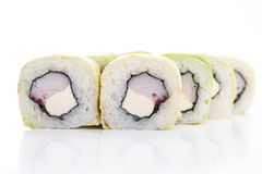 Rolls with crabmeat and cheese philadelphia Royalty Free Stock Photos