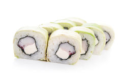 Rolls with crabmeat and cheese philadelphia Royalty Free Stock Photography