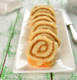 Rolls with cream Royalty Free Stock Images