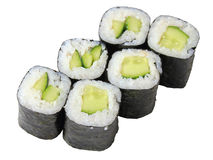 Rolls with cucumber Stock Image